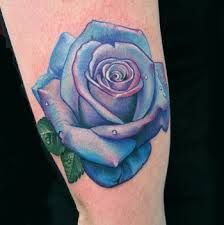 Blue Rose Tattoo Designs And Ideas-Blue Rose Tattoo Meanings And Pictures