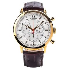 luxury mens rose gold watch with leather strap - Google Search