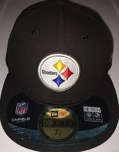 MENS NEW ERA NFL ON FIELD PITTSBURGH STEELERS FITTED HAT 7 1/8 NWT