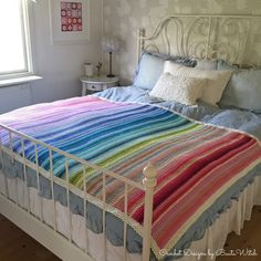Rainbow blanket in v-stitch by BautaWitch