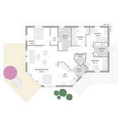 Husmodellen Favorithem Vinga från A-hus - Hus. Sims, House Plans, Villa, Floor Plans, How To Plan, Inspiration, Dreams, Beach, Biblical Inspiration