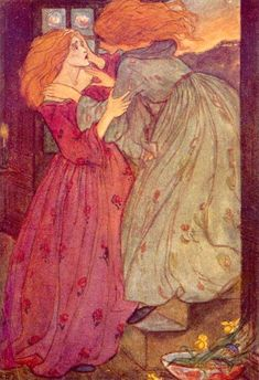 Florence Harrison. An illustration to Christina Rossetti's poem 'Goblin Market'.