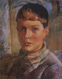 The daughter of an artist, 1933  Kuzma Petrov-Vodkin