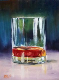 Original Art For Sale, Original Artwork, Wine Glass, Glass Art, Whisky, S Pic, Illustrators, Oil On Canvas, Watercolor Paintings