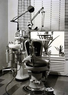 Antique dentist chair.hate to say it but i remember those...