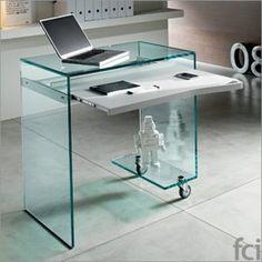 Tonelli Work-Box Glass Computer Desk