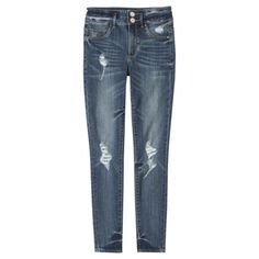 """Mossimo Supply Co. Junior's High Waisted Denim Legging-Looks & feels like a jean but fits like a legging! surprisingly comfortable fit from waist to ankle, high waist yet back pockets are low for flattering fit, color dark denim, soft & stretchy, slim fit, fitted hip/thigh, 2 button zipper fly, cotton 71%/polyester 26%/spandex 3%, length 29"""", $24.99, Target (size 1)"""