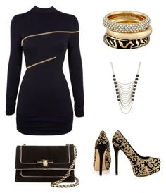 """Untitled #57"" by elsahelenacress ❤ liked on Polyvore featuring Michael Kors, Bebe, Agent Provocateur, Salvatore Ferragamo and Lane Bryant"