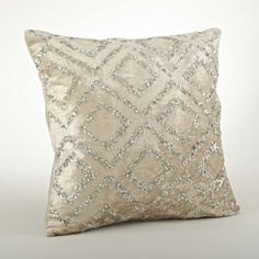 Found it at Wayfair - Glittery Velvet Sequined Cotton Throw Pillow