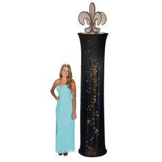 Fleur De Lis Light-Up Column - OrientalTrading.com Mardi Gras Party Theme, Prom Decor, Party Lights, Oriental Trading, Slipcovers, Light Up, Wedding Reception, Backdrops, Aurora Sleeping Beauty