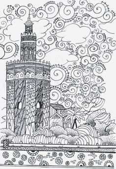 OUR MONUMENTS Reinterpreted WITH ART Zentangle