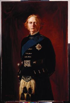 George Douglas Campbell Duke of Argyll, Scotland by unknown artist. Husband of wife Elizabeth Georgina Sutherland-Leveson-Gower Scotland, wife Amelia Maria Claughton-Anson wife Ina McNeill Campbell Tartan, Campbell Clan, Duke Of Argyll, Inveraray Castle, Princess Louise, Royal Collection Trust, Scottish Fashion, Scottish Clans, Evening Attire