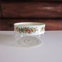 Vintage Pyrex Spice of Life See N' Store Glass Canister with Lid and Gasket #Pyrex