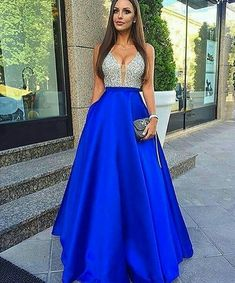 Sparkly Prom Dress, Royal Blue Long Prom Dress, 2018 Beads Long Prom Dress Evening Dress These 2020 prom dresses include everything from sophisticated long prom gowns to short party dresses for prom. Royal Blue Prom Dresses, Elegant Prom Dresses, Beaded Prom Dress, Prom Dresses 2017, Backless Prom Dresses, A Line Prom Dresses, Formal Dresses For Women, Cheap Prom Dresses, Sexy Dresses