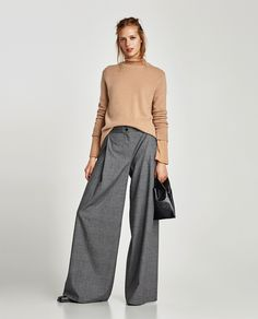 ZARA - WOMAN - WIDE-CUT TROUSERS WITH DARTS