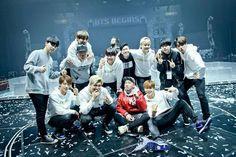 BTS with BTS Dance Crew after BTS Begin Concert