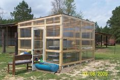 treated 4x4x10 for the corners and 1 on each wall and 2 for the door. Then he used untreated 1x4's on the walls and untreated 2x4's on the roof. All of the panels are on the outside. Just wanted to post an update. I ended up going with the Tuftex Polycarb, finished the greenhouse today.Clear on the walls and the smoky clear on the roof. I paid $19.95 for a 26in x 96 in. panel.