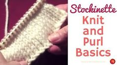 Knitting Patterns combine Knit and Purl – Basic Knit Stockinette Stitch Pattern Knitting Basics, Knitting Stitches, Knitting Patterns, Stockinette, Fingerless Gloves, Arm Warmers, Ravelry, Stitch Patterns, Projects To Try