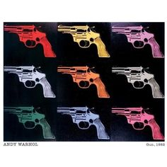 Andy Warhol Guns poster print 11 x 14 (11 CAD) ❤ liked on Polyvore featuring home, home decor, wall art, andy warhol, outside home decor, paper wall art, andy warhol poster and outside wall art
