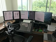 Best Gaming Setup, Gaming Room Setup, Computer Desk Setup, Tiny Office, Home Office Setup, Home Office Space, Art Studio Design, Game Room Design, Dream Home Design