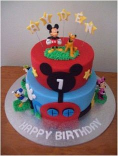 mickey mouse cake ideas | Mickey Mouse Clubhouse Birthday Party Ideas | Happy Bi #Christmas #thanksgiving #Holiday #quote