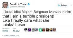 What did Donald Trump tweet about you?
