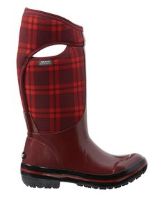Look what I found on #zulily! Bogs Red Plaid Plimsoll Waterproof Tall Boot - Women by Bogs #zulilyfinds