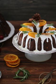 Fruit Cake with Candied Orange & Rosemary