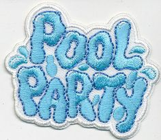 Girl-Boy-Cub-POOL-PARTY-WATER-Fun-Patches-Crests-Badges-SCOUT-GUIDE-Iron-Splash