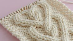 How to Knit a Cable Heart   Free Knitting Pattern + Video Tutorial by Studio Knit