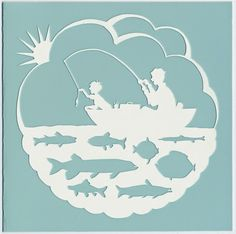 Father's Day Fishing = paper cutting printable template. http://papercutting.blogspot.com/ http://www.bean-cutter.com/images/FatherFish.pdf