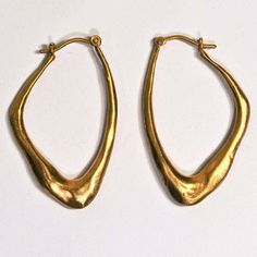 Wing Earrings Gold Plate, $118, now featured on Fab.