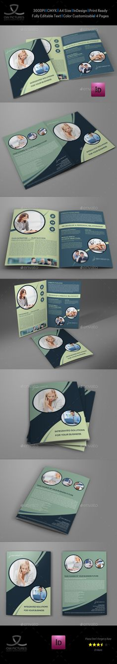 Fitness - GYM Bi-Fold Brochure Template - Fitness Brochure Template