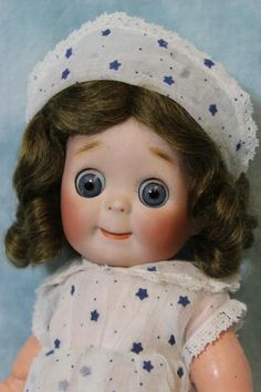 "Antique 11"" JDK Kestner 221 Doll Googly Sl Eyes German Bisque 1913 orig.clothes"