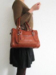 Leather bag handmade clip on laptop messenger satchel by Adeleshop, $135.00
