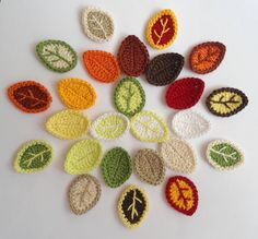 Crochet Applique Leaves 25 pcs  Supplies For by Clewinhand on Etsy, $8.00