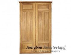 Antique double solid door paneled.