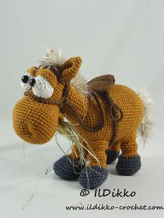 This listing is for a crochet pattern and not a finished item!!! Herbert the Horse: More photos available on Facebook: