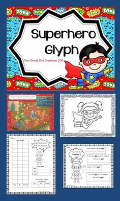 "$ What child doesn't want to be a superhero? This engaging glyph will be a great addition to your ""All About Me"" theme this fall or a compliment for  ""Zero the Hero"" activities and ""100th Day"" theme."