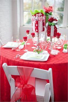 Inspiración para la mesa de navidad....