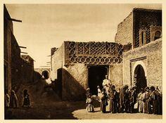 1924 Buildings People Nafta Nefta Oasis Tunisia Lehnert - ORIGINAL NAF2