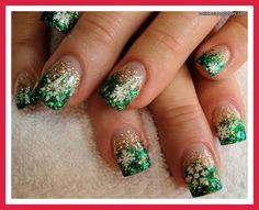 Christmas tree nails tumblr | Cute pointy nails tumblr| Cute gel nails tumblr…