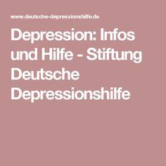 Depression: Infos und Hilfe - Stiftung Deutsche Depressionshilfe