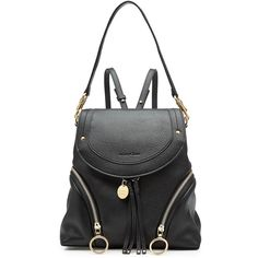 See by Chloé Leather Backpack ($490) ❤ liked on Polyvore featuring bags, backpacks, black, day pack backpack, backpack shoulder bag, mini shoulder bag, convertible backpack and convertible bags shoulder bag backpack