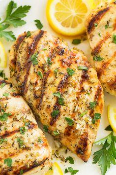 Grilled Greek Lemon Chicken - a High Protein recipe idea.