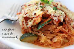spaghetti squash casserole with veggies & marinara