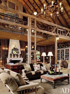 Barn Home Interiors barn house decorating ideas |  converted into cool living room