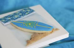 Surfing Cookie Idea for a Luau Party