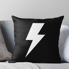 White Throws, White Throw Pillows, Red Bandana Shoes, Tattoo Studio Interior, Lightning Bolt, Colours, Prints, Cover, Cookie Decorating