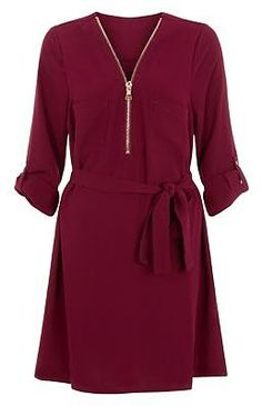 Womens berry dress from New Look - £22.99 at ClothingByColour.com